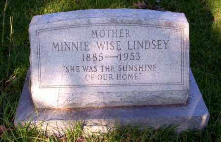 LINDSEY, MINNIE WISE - Ouachita County, Arkansas | MINNIE WISE LINDSEY - Arkansas Gravestone Photos