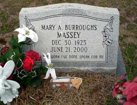 BURROUGHS MASSEY, MARY A - Ouachita County, Arkansas | MARY A BURROUGHS MASSEY - Arkansas Gravestone Photos