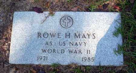 MAYS  (VETERAN WWII), ROWE H - Ouachita County, Arkansas | ROWE H MAYS  (VETERAN WWII) - Arkansas Gravestone Photos