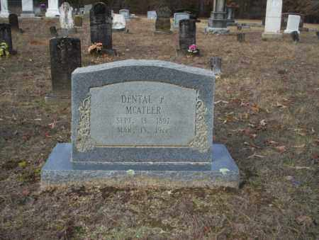 MCATEER, DENTAL F - Ouachita County, Arkansas | DENTAL F MCATEER - Arkansas Gravestone Photos