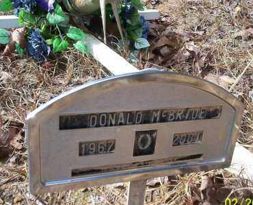 MCBRIDE, DONALD - Ouachita County, Arkansas | DONALD MCBRIDE - Arkansas Gravestone Photos