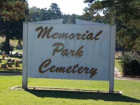 *MEMORIAL PARK, CEMETERY GATE - Ouachita County, Arkansas | CEMETERY GATE *MEMORIAL PARK - Arkansas Gravestone Photos