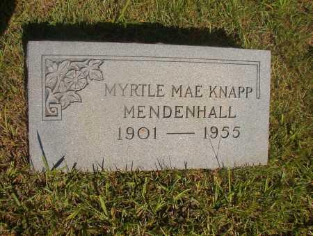 KNAPP MENDENHALL, MYRTLE MAE - Ouachita County, Arkansas | MYRTLE MAE KNAPP MENDENHALL - Arkansas Gravestone Photos