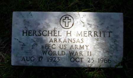 MERRITT  (VETERAN WWII), HERSCHEL H. - Ouachita County, Arkansas | HERSCHEL H. MERRITT  (VETERAN WWII) - Arkansas Gravestone Photos