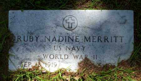 MERRITT  (VETERAN WWII), RUBY NADINE - Ouachita County, Arkansas | RUBY NADINE MERRITT  (VETERAN WWII) - Arkansas Gravestone Photos