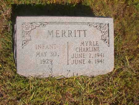 MERRITT, MYRLE CHARLINE - Ouachita County, Arkansas | MYRLE CHARLINE MERRITT - Arkansas Gravestone Photos