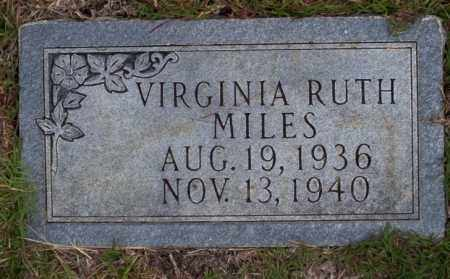 MILES, VIRGINIA RUTH - Ouachita County, Arkansas | VIRGINIA RUTH MILES - Arkansas Gravestone Photos