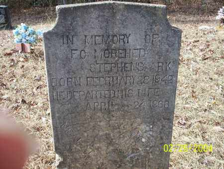 MOREHED, F.C. - Ouachita County, Arkansas | F.C. MOREHED - Arkansas Gravestone Photos
