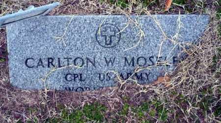 MOSELEY  (VETERAN), CARLTON - Ouachita County, Arkansas | CARLTON MOSELEY  (VETERAN) - Arkansas Gravestone Photos