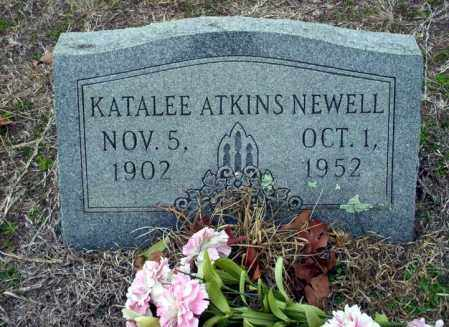ATKINS NEWELL, KATALEE - Ouachita County, Arkansas | KATALEE ATKINS NEWELL - Arkansas Gravestone Photos