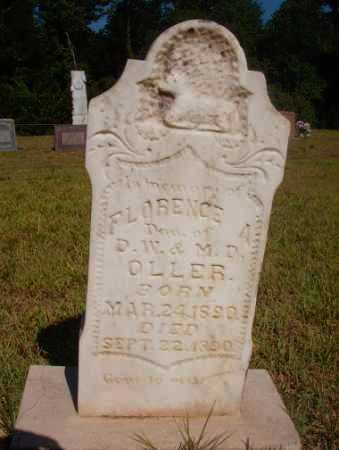 OLLER, FLORENCE A - Ouachita County, Arkansas | FLORENCE A OLLER - Arkansas Gravestone Photos