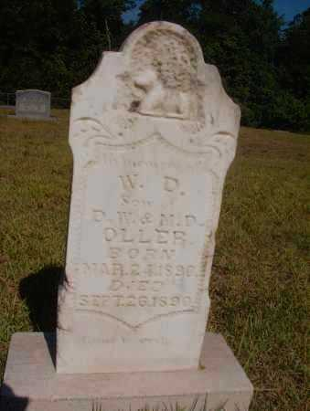 OLLER, W D - Ouachita County, Arkansas | W D OLLER - Arkansas Gravestone Photos