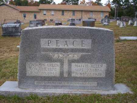 PEACE, BENJAMIN GREEN - Ouachita County, Arkansas | BENJAMIN GREEN PEACE - Arkansas Gravestone Photos
