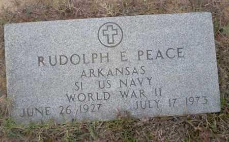 PEACE (VETERAN WWII), RUDOLPH E - Ouachita County, Arkansas | RUDOLPH E PEACE (VETERAN WWII) - Arkansas Gravestone Photos