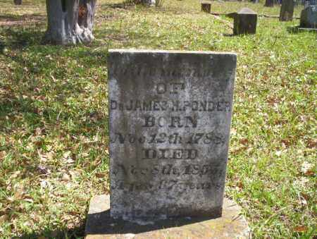 PONDER, DR. JAMES - Ouachita County, Arkansas | DR. JAMES PONDER - Arkansas Gravestone Photos