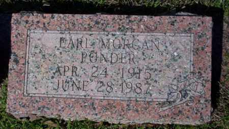 PONDER, EARL MORGAN - Ouachita County, Arkansas | EARL MORGAN PONDER - Arkansas Gravestone Photos