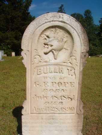 POPE, BULAH T - Ouachita County, Arkansas | BULAH T POPE - Arkansas Gravestone Photos