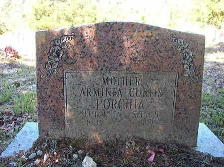 CURTIS PORCHIA, ARMINTA - Ouachita County, Arkansas | ARMINTA CURTIS PORCHIA - Arkansas Gravestone Photos