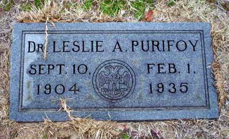 PURIFOY, DR. LESLIE A - Ouachita County, Arkansas | DR. LESLIE A PURIFOY - Arkansas Gravestone Photos