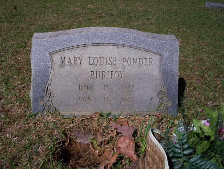 PONDER PURIFOY, MARY LOUISE - Ouachita County, Arkansas | MARY LOUISE PONDER PURIFOY - Arkansas Gravestone Photos