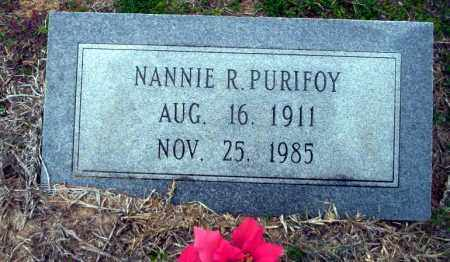 PURIFOY, NANNIE R - Ouachita County, Arkansas | NANNIE R PURIFOY - Arkansas Gravestone Photos