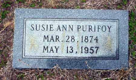 PURIFOY, SUSIE ANN - Ouachita County, Arkansas | SUSIE ANN PURIFOY - Arkansas Gravestone Photos
