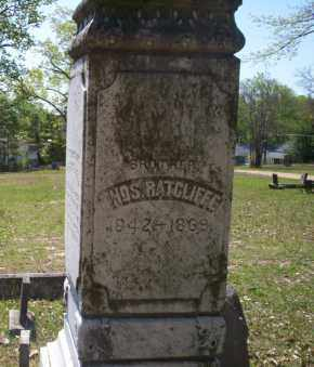 RATCLIFFE, THOS (CLOSEUP) - Ouachita County, Arkansas | THOS (CLOSEUP) RATCLIFFE - Arkansas Gravestone Photos
