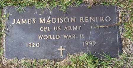 RENFRO  (VETERAN WWII), JAMES MADISON - Ouachita County, Arkansas | JAMES MADISON RENFRO  (VETERAN WWII) - Arkansas Gravestone Photos