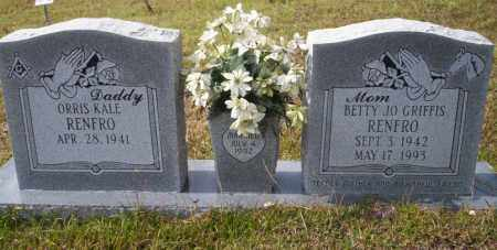 GRIFFIS RENFRO, BETTY JO - Ouachita County, Arkansas | BETTY JO GRIFFIS RENFRO - Arkansas Gravestone Photos