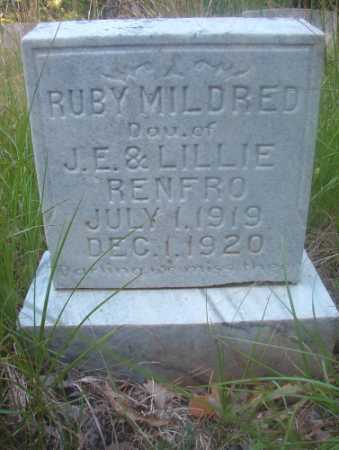 RENFRO, RUBY MILDRED - Ouachita County, Arkansas | RUBY MILDRED RENFRO - Arkansas Gravestone Photos
