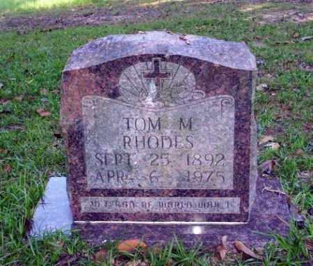 RHODES, TOM M - Ouachita County, Arkansas | TOM M RHODES - Arkansas Gravestone Photos