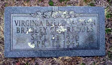 JACKSON - BRADLEY RHODES, VIRGINIA BELLE - Ouachita County, Arkansas | VIRGINIA BELLE JACKSON - BRADLEY RHODES - Arkansas Gravestone Photos
