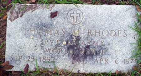 RHODES (VETERAN WWI), THOMAS M - Ouachita County, Arkansas | THOMAS M RHODES (VETERAN WWI) - Arkansas Gravestone Photos