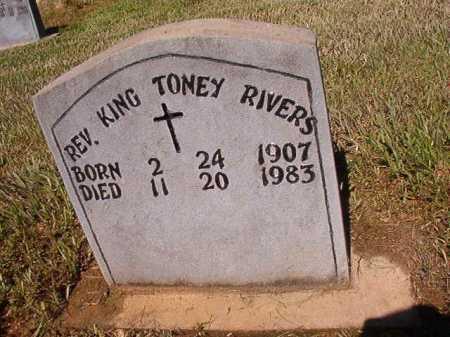 RIVERS, REV, KING TONEY - Ouachita County, Arkansas | KING TONEY RIVERS, REV - Arkansas Gravestone Photos