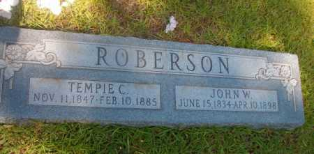 ROBERSON, TEMPIE C - Ouachita County, Arkansas | TEMPIE C ROBERSON - Arkansas Gravestone Photos