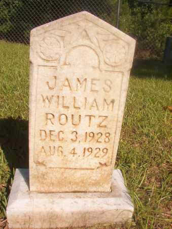 ROUTZ, JAMES WILLIAM - Ouachita County, Arkansas | JAMES WILLIAM ROUTZ - Arkansas Gravestone Photos