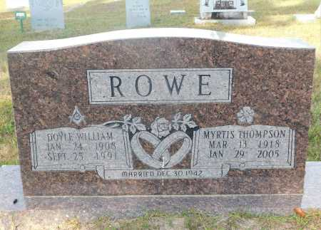 THOMPSON ROWE, MYRTIS - Ouachita County, Arkansas | MYRTIS THOMPSON ROWE - Arkansas Gravestone Photos
