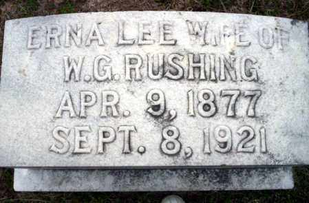 LEE RUSHING, ERNA - Ouachita County, Arkansas | ERNA LEE RUSHING - Arkansas Gravestone Photos