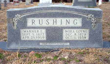 GOYNE RUSHING, NORA - Ouachita County, Arkansas | NORA GOYNE RUSHING - Arkansas Gravestone Photos