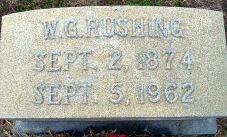 RUSHING, W.G. - Ouachita County, Arkansas | W.G. RUSHING - Arkansas Gravestone Photos