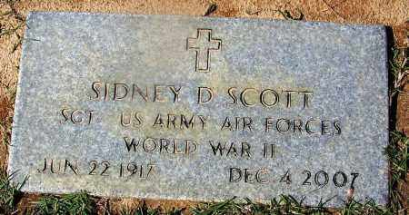 SCOTT (VETERAN WWII), SIDNEY D - Ouachita County, Arkansas | SIDNEY D SCOTT (VETERAN WWII) - Arkansas Gravestone Photos