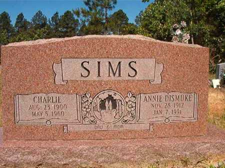SIMS, CHARLIE - Ouachita County, Arkansas | CHARLIE SIMS - Arkansas Gravestone Photos