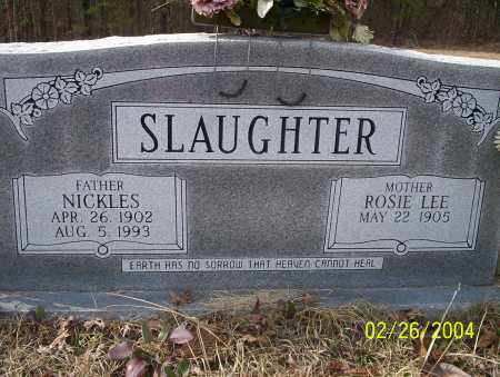 SLAUGHTER, NICKLES - Ouachita County, Arkansas | NICKLES SLAUGHTER - Arkansas Gravestone Photos