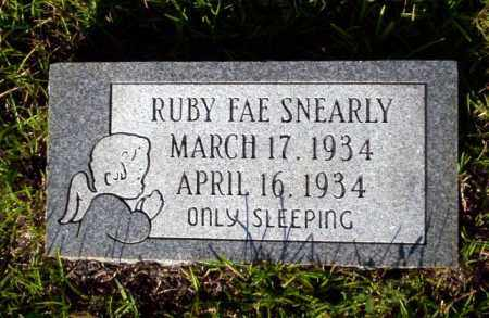 SNEARLY, RUBY FAE - Ouachita County, Arkansas | RUBY FAE SNEARLY - Arkansas Gravestone Photos