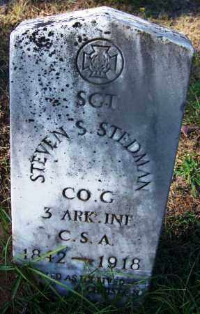 STEDMAN (VETERAN CSA), STEVEN S - Ouachita County, Arkansas | STEVEN S STEDMAN (VETERAN CSA) - Arkansas Gravestone Photos
