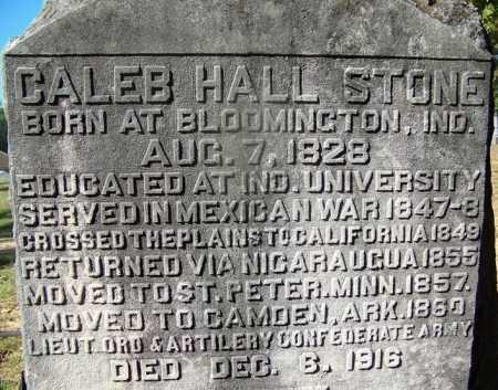 STONE (VETERAN 2 WARS), CALEB HALL - Ouachita County, Arkansas | CALEB HALL STONE (VETERAN 2 WARS) - Arkansas Gravestone Photos