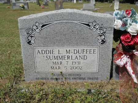 SUMMERLAND, ADDIE L - Ouachita County, Arkansas | ADDIE L SUMMERLAND - Arkansas Gravestone Photos