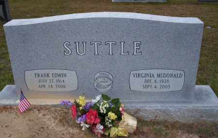 MCDONALD SUTTLE, VIRGINA - Ouachita County, Arkansas | VIRGINA MCDONALD SUTTLE - Arkansas Gravestone Photos