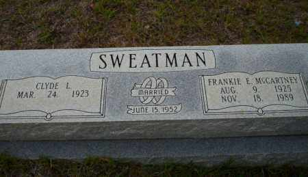 MCCARTNEY SWEATMAN, FRANKIE E - Ouachita County, Arkansas | FRANKIE E MCCARTNEY SWEATMAN - Arkansas Gravestone Photos