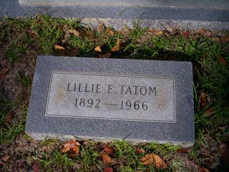 TATOM, LILLIE E - Ouachita County, Arkansas | LILLIE E TATOM - Arkansas Gravestone Photos